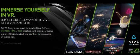 NVIDIA HTC Vive VR game bundle