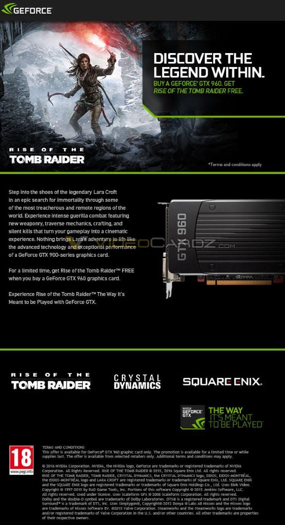 GTX 960 tomb raider promo