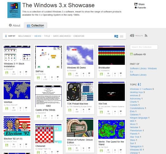 Windows 3x showcase