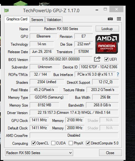 AMD Radeon RX 480 can be flashed to RX 580 to unlock more