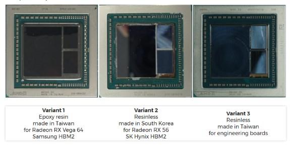 AMD Vega molded and unmolded