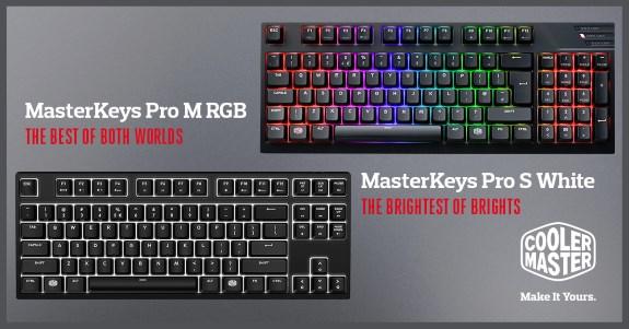 CM Pro S White and MK Pro M RGB
