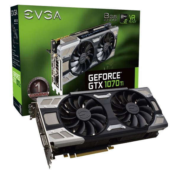 EVGA GeForce GTX 1070 Ti FTW ULTRA SILENT GAMING