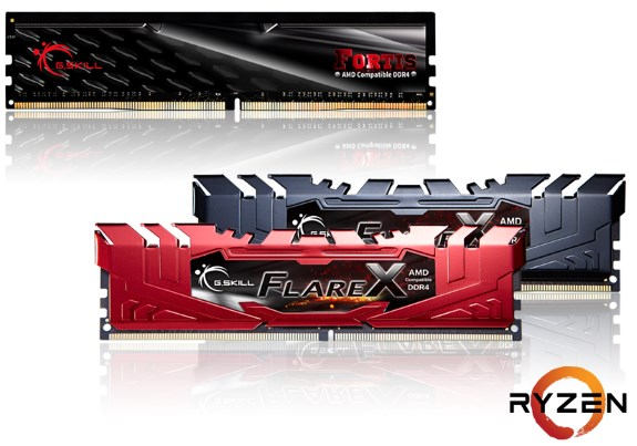 GSkill Flair and Fortis DDr4 Ryzen
