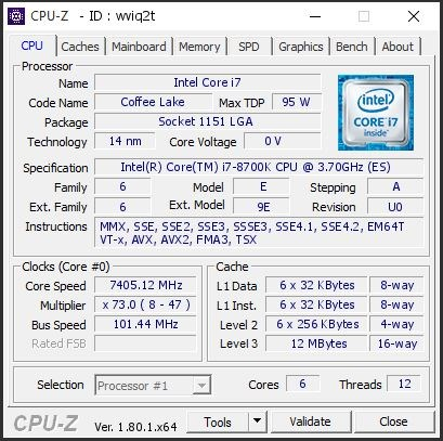 Intel 8700K over 100 percent OC with LN2