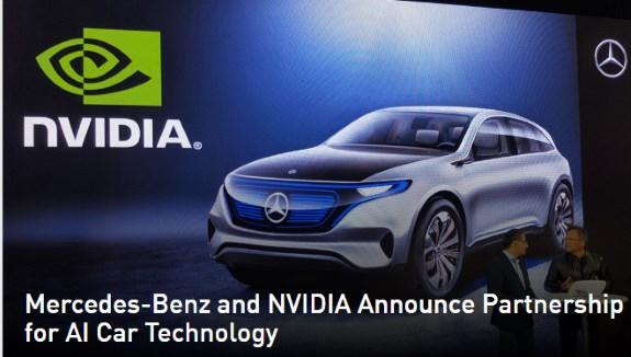 Mercedes NVIDIA AI car project