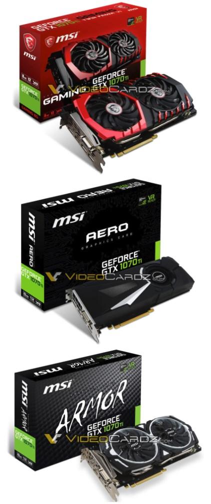 MSI GTX 1070 Ti cards
