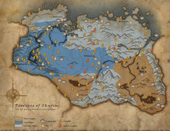 Skyrim map survival mode warmth