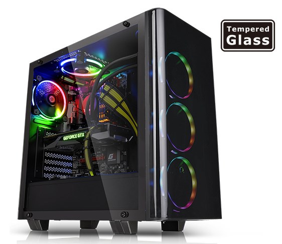 Thermaltake View 21 Tempered Glass Edition Mid-Tower Chassis