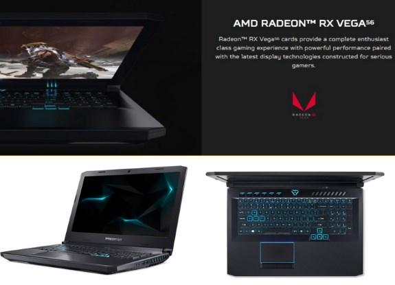 Acer Predator Helios 500 with RX Vega 56