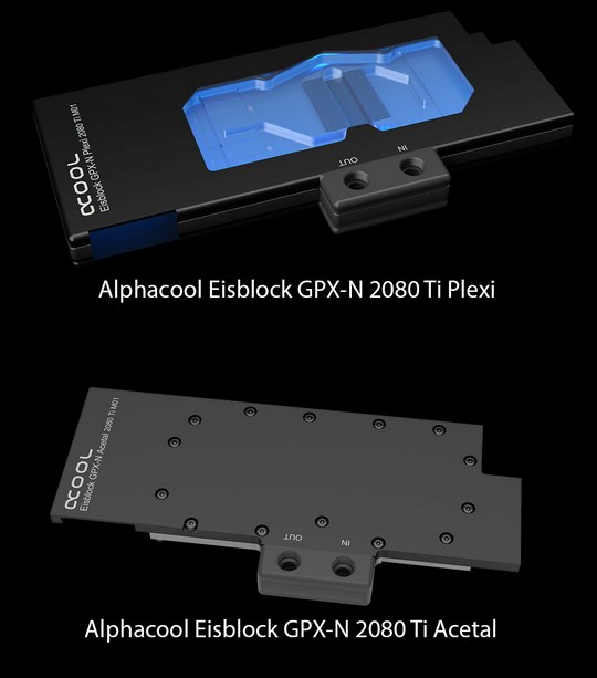 Alphacool Eisblocks for RTX 2080 and ti