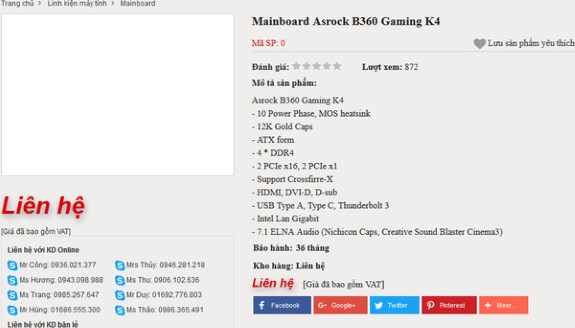 ASRock B360 Gaming K4