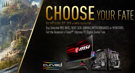 MSI AC Odyssey game bundle