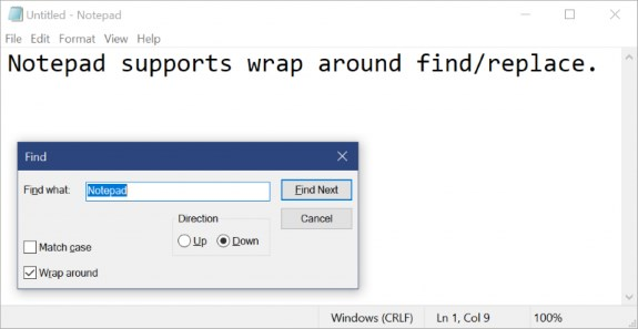 Notepad new functions