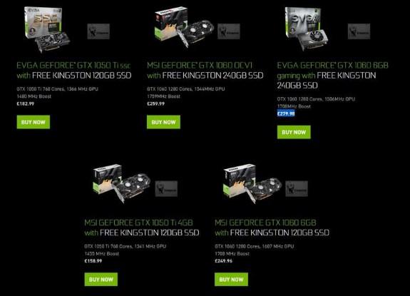 NvIDIa GeForce SSD bundles in UK