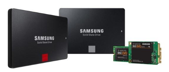 Samsung 860 Pro and Evo SSDs