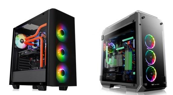 Thermaltake View 21 TG RGB Plus Edition Mid Tower Chassis and View 71 TG RGB Plus Edition Full Tower Chassis