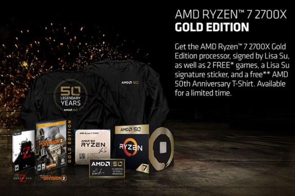 AMD goodies in collector item bundle 2700X
