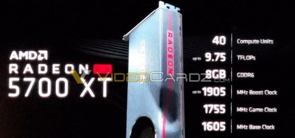 AMD Radeon RX 5700 XT specs