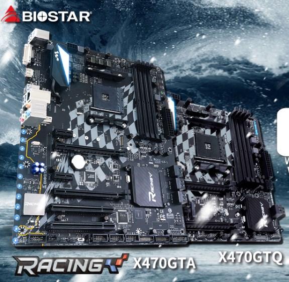 Biostar RACING X470GTA and X470GTQ arrive for Zen 2