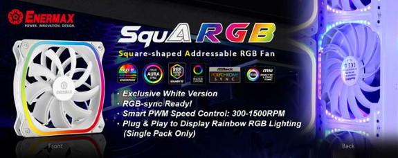 ENERMAX 120mm SquA RGB White Fan Version