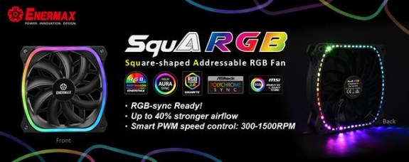 Enermax SquA RGB fan has addressable RGB LEDs