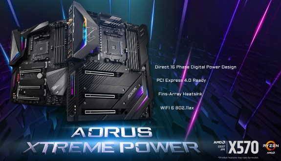 AMD X570 based AORUS Xtreme Power