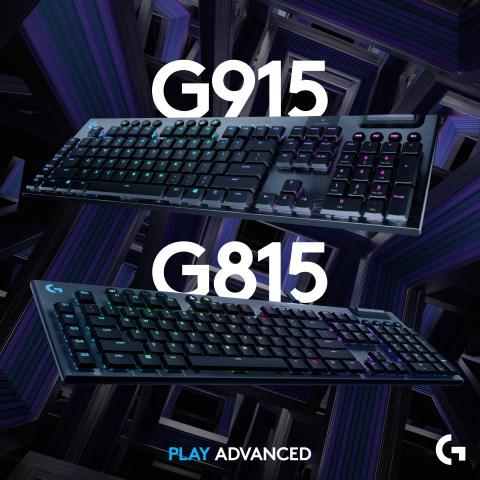 Logitech G915 LIGHTSPEED and G815 LIGHTSYNC