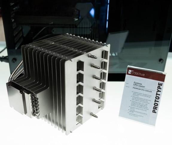 Fanless CpU cooler prototype from Noctua at Computex 2019