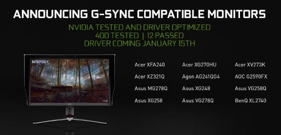 NVDA GSYNC compatible screens