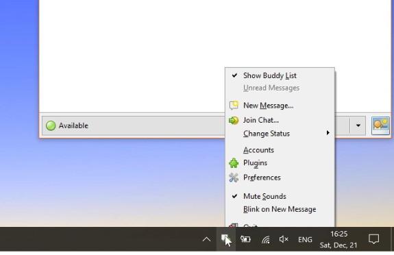 context menu under W10 taskbar
