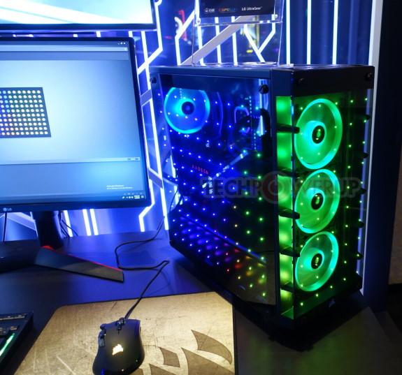 Corsair case with Capellix LEDs