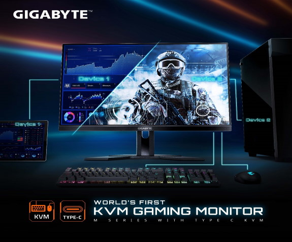 Gigabyte KVM gaming displays