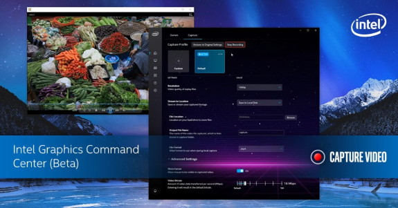 Graphics Command Center capture and streaming