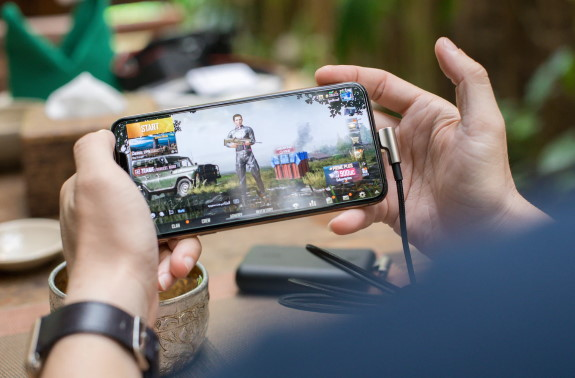 Gaming on a smartphone