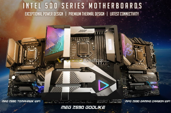 MSI Z590 lineup