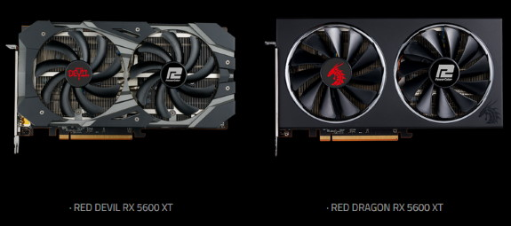 RED DEVIL RX 5600 XT 	and RED DRAGON RX 5600 XT