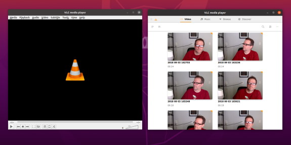 Old VLC vs New style