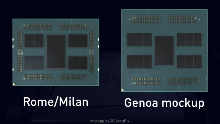 AMD Genoa mockup