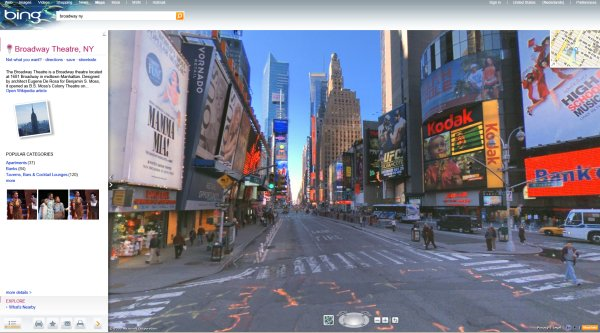 Bing Maps Streetside View Uses Photosynth Technology