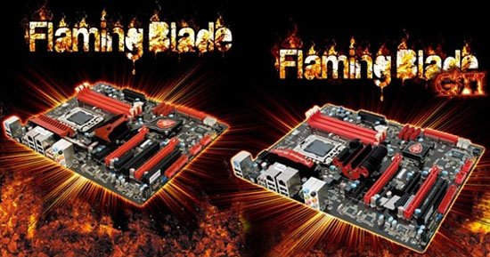 Foxconn debuts two Flaming Blade X58 motherboards