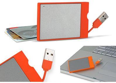 LaCie's credit-card sized 8GB USB key