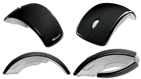 microsoft arc mouse foldable notebook mouse. Black Bedroom Furniture Sets. Home Design Ideas