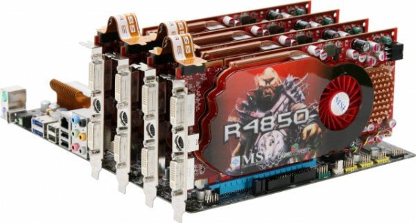 And here's the card in a CrossFire X setup: