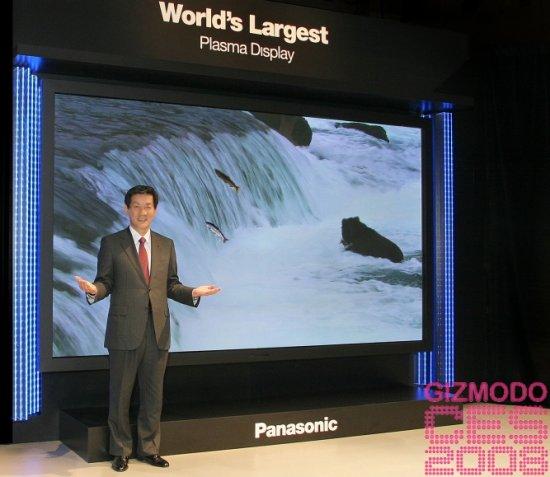 Panasonic shows off 150-inch Plasma TV