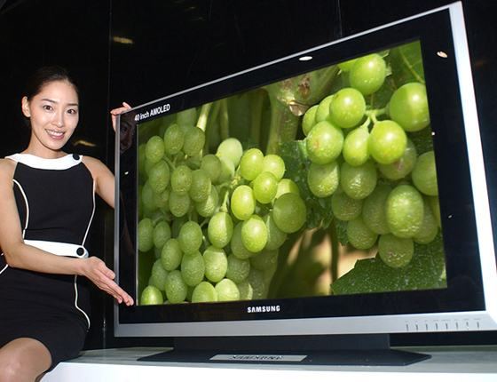 samsung goes big with 82 inch lcd and 40 inch oled display. Black Bedroom Furniture Sets. Home Design Ideas