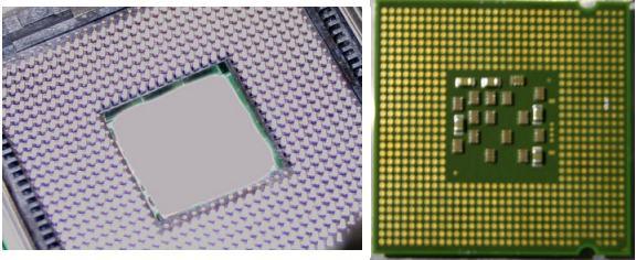 Tejas sample CPU and LGA 775 socket
