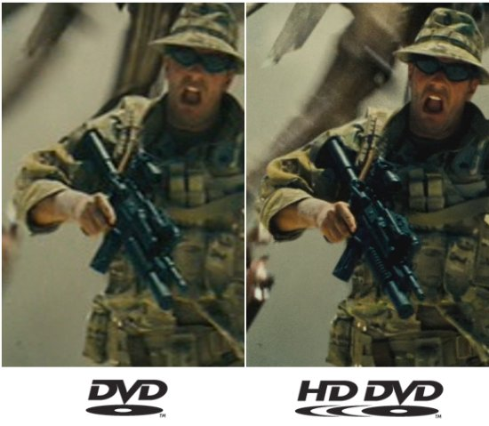 hd dvd vs dvd