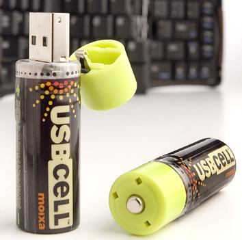 Usbcell Batteries Recharge Through Usb Port
