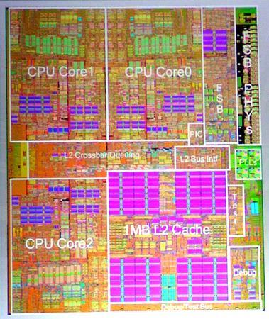 Xbox    360    CPU and GPU die photos